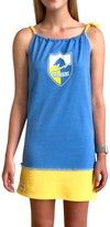 Unbranded Women's Refried Tees Powder Blue Los Angeles Chargers Vintage Tank Dress