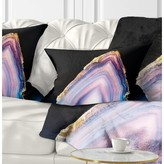 Abstract Beautiful Slice of Agate Lumbar Pillow East Urban Home