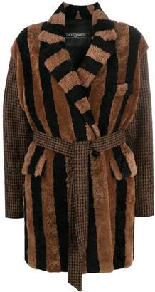 Simonetta Ravizza Striped Tie-Waist Coat