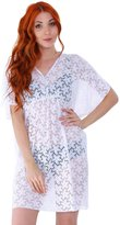 Simplicity Beach and Pool Party Cover Up Dress w/ V Neck, Short