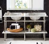 Pottery Barn Apothecary Double Sink Console