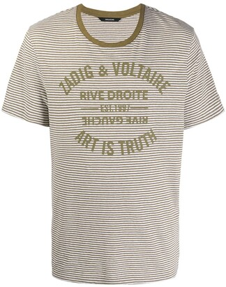 Zadig & Voltaire striped print T-shirt