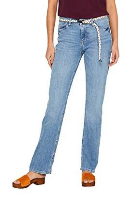 Esprit Women's 049ee1b023 Straight Jeans, (Blue Light Wash 903), W30/L28 (Size: 30/28)