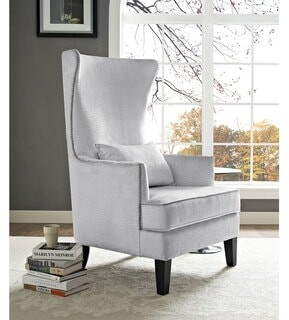 Thumbnail for your product : TOV Furniture Bristol Silver Croc Tall Chair