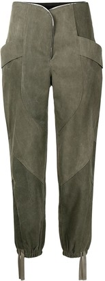 RtA Zelie tapered high-waisted trousers
