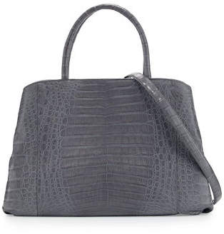 Nancy Gonzalez Crocodile Large Center-Zip Tote Bag