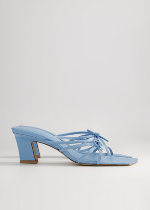 BY FAR Women's Marissa Strappy Heeled Sandal in Baby Blue, Size 36 | Leather