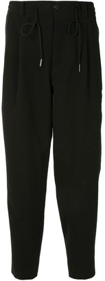 SONGZIO Signature Saint-Embroidered Cropped Trousers