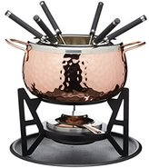 Kitchen Craft Master Class Copper Finish Artesa Hammered 6-Persons Fondue Set, Copper