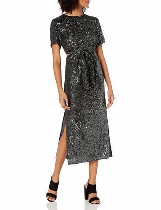 C/Meo Women's Lustre Short Sleeve Cut Dress