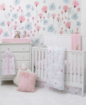 NoJo Lovely Watercolor Floral 8-Piece Crib Bedding Set Bedding