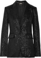 Rachel Zoe Rixey Sequined Tulle Blazer - Black