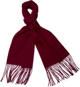 One Kings Lane Cashmere-Blend Waterweave Scarf, Red