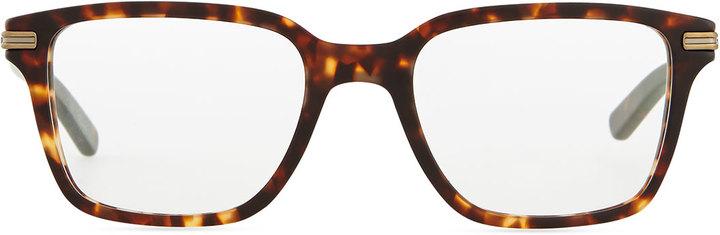 Oliver Peoples Stone Rectangle Fashion Glasses, Tortoise