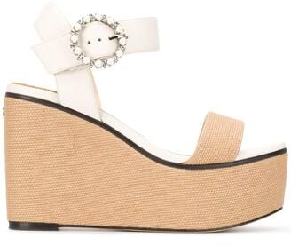 Jimmy Choo Abigail 100 wedge sandals