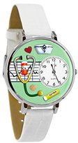Whimsical Watches Women's U0620041 Unisex Silver Nurse Green White Skin Leather And Silvertone Watch