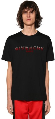 Givenchy LOGO EMBROIDERED TUFTING T-SHIRT