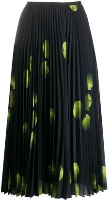 Paul Smith Apple Pattern Pleated Skirt
