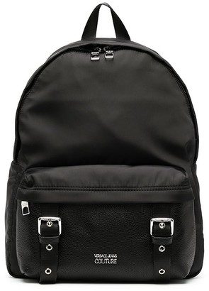 Versace Jeans Couture Double Buckle Logo Backpack