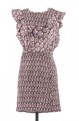 Antik Batik Burgundy Cotton Dress for Women