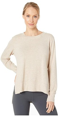 Alo Glimpse Long Sleeve Top (Nectar Heather) Women's Clothing
