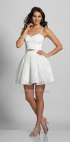 Dave and Johnny Sweetheart Cut Out Fit and Flare Cocktail Dress