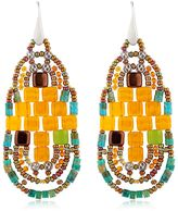 Ziio Pixel Orange Beaded Earrings