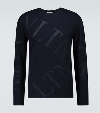 Valentino VLTN knitted cashmere-blend sweater