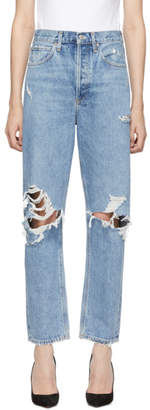 A Gold E AGOLDE Blue 90s Mid Rise Loose Fit Jeans
