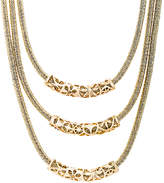 Bliss Gold Curved Bar Layered Necklace