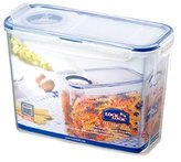 Lock & Lock Rectangular Storage Container with Flip-Top Lid, 2.4 L - Clear/Blue