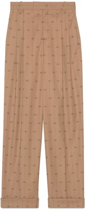 Gucci Retro GG wool trousers with ankle tie