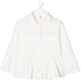 Piccola Ludo TEEN ruffle-hem jacket