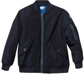 Paul Smith Navy Nylon Bomber Jacket with Branded Plaque