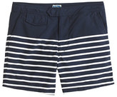 """J.Crew 6.5"""" Tab Swim Short In Navy Stripe"""