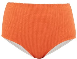 Marysia Swim Corsica High Rise Bikini Briefs - Womens - Orange