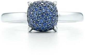 Tiffany & Co. Paloma's Sugar Stacks ring in 18k white gold with sapphires