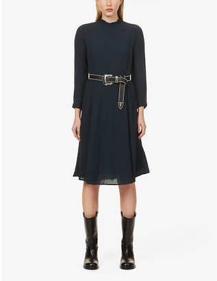 Sessun Graphic-print crepe midi dress