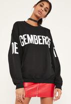 Missguided Black Christmas December 25 Sweatshirt