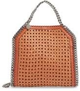 Stella McCartney 'Mini Falabella' Woven Faux Leather Tote - Brown