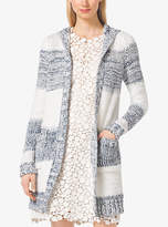 Michael Kors Striped Cotton-Blend Cardigan