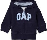Gap Navy Logo Terry Hoodie