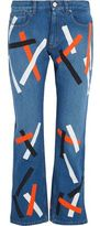Christopher Kane Taped Mid-Rise Wide-Leg Jeans