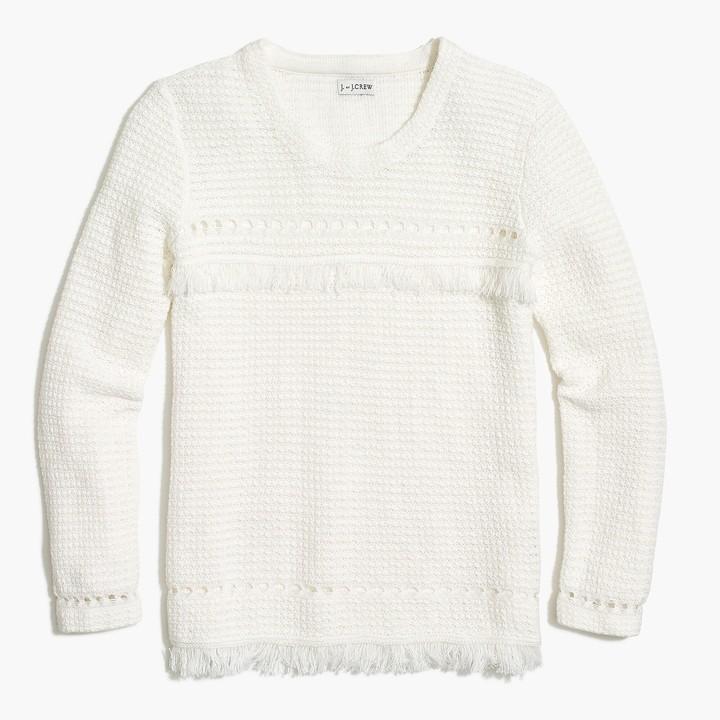 f7ae5dfc0de73e Long Sleeve Fringe Sweater - ShopStyle