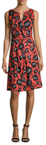 Carolina Herrera Cotton Printed Flare Dress