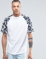 Antioch Raglan Sleeve T-Shirt in Brush Print