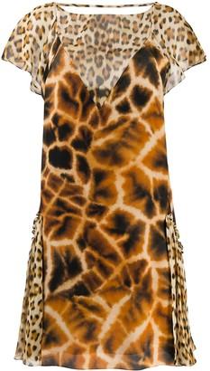 Roberto Cavalli Animal-Print Dress