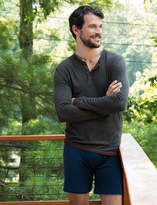 Tommy John Long Sleeve Ribbed Henley and Cool Cotton Relaxed Fit Boxer Set