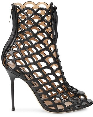 Sergio Rossi Perforated Leather Booties