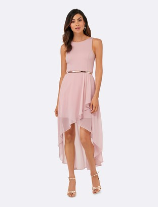 Forever New Danielle High-Low Dress - Ballet blush - 10